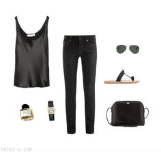 Trini blog | Saint Laurent jeans - The Row bag - K Jacques sandals - Cartier watch