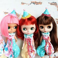 Bright circus rompers for Blythe