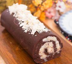 Amantes de chocolate, esta receita é para vocês! Olha só que delícia ;) #receitas #sobremesas #comida #rocambole #chocolate