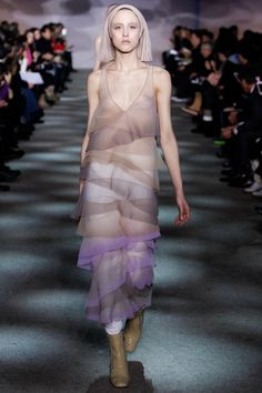 It's like they are walking wreathed in colored mist. So cool. Marc Jacobs | Fall 2014 Ready-to-Wear Collection