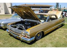 lowriders Car Show Roosevelt School, 1963 Chevy Impala, Lo Rider, Cholo Style, Beach Lifeguard, Impalas, Old School Cars, Low Low, Older Models