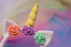 Crochet Unicorn Blanket, Crochet Unicorn Pattern, Easter Crochet Patterns, Crochet Headband Pattern, Crochet Ideas, Crochet Projects, Crochet Hook Sizes, Crochet Hooks, Unicorn Costume