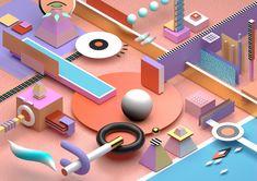 b3D, 3D, abstract, art, design - ikyste | ello