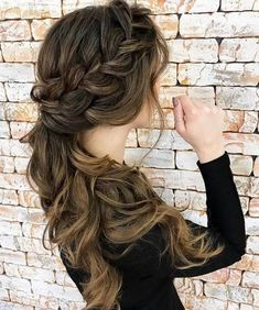 black braided hairstyles Braided wedding hairstyles for long hair Easy Hairstyles For Medium Hair, Cool Braid Hairstyles, Braided Hairstyles For Wedding, Party Hairstyles, Hairstyles 2018, Hairstyle Wedding, Hairstyle Ideas, Hair Wedding, Wedding Braids