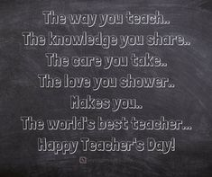 30 Happy Teachers Day Quotes and Messages - teachers day wishes Best Teachers Day Quotes, Birthday Quotes For Teacher, Happy Teachers Day Wishes, Teachers Day Special, Teachers Day Greetings, Teacher Poems, Teachers Day Card Message, Teacher Thank You Cards, Teachers Day Drawing
