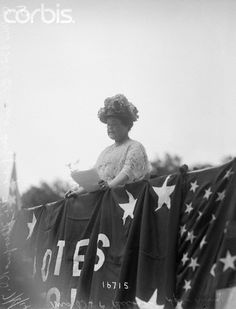 Mrs O.H.P. Belmont Addressing Suffragist at Marble House Tea (c. 1914)