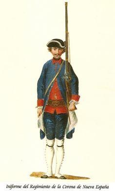 Regimiento de la Corona de Nueva España 1769
