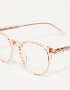 1fe4246e50b Vintage Pink Eyeglass Frames - Oversized Eyeglasses - Light Pink ...