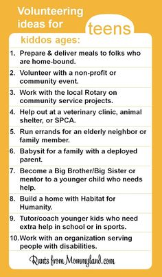 RANTS FROM MOMMYLAND: Kids Can Volunteer (They Just Cant Clean Their Rooms)