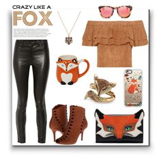Crazy Like A Fox by joyfulnoise1052 on Polyvore featuring polyvore, fashion, style, J Brand, AERIN, Palm Beach Jewelry, Betsey Johnson, Casetify, Wildfox and clothing