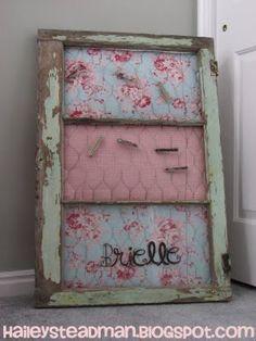 Old Window - pretty idea!