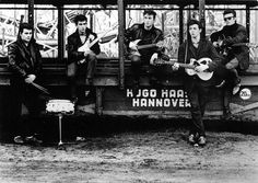 Early photo of the Beatles in Hamburg, Germany. The five members are (L to R), Pete Best, George Harrison, John Lennon. Paul McCartney and Stuart Sutcliffe. The Beatles, Beatles Photos, Original Beatles, Beatles Band, Beatles Guitar, Ringo Starr, George Harrison, Rock Roll, Paul Mccartney