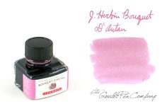 J. Herbin Bouquet d'Antan. La Perle des Encres (The Jewel of Inks) is available in 30 beautiful colors. Each 30 ml bottle is elegantly labeled and has an integrated pen rest.