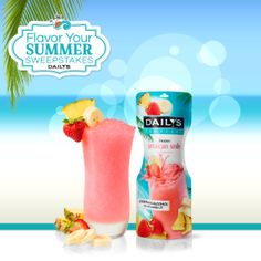 Flavor up your summer with a delicious tropical twist. One sip of Daily's Cocktails yummy Jamaican Smile and you'll practically feel the sand in your toes. Enter the #FlavorYourSummer Sweeps now for your chance to #WIN!