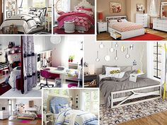 Modern Bedroom Ideas for Today's Teenage Girl (Jaden -- blue theme, peace fabric)