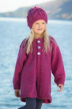 Kåpe og lue - Viking of Norway Children In Need, Knitting For Kids, Our Baby, Vikings, Knit Crochet, Little Girls, Baby Kids, Tights, Beanie