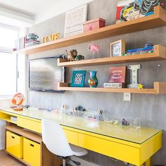 Trendy Home Office Quarto Geek Ideas Mesa Home Office, Home Office Desks, Single Bedroom, Teen Girl Bedrooms, Geek Room, Cheap Countertops, Ikea Storage, Trendy Home, Small Apartments