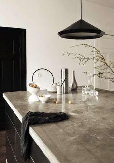 Keuken met betonnen aanrecht