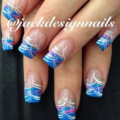 Beautiful nail art designs that are just too cute to resist. It's time to try out something new with your nail art. Nail Art Designs, French Nail Designs, Creative Nail Designs, Nail Designs Spring, Creative Nails, Acrylic Nail Designs, Acrylic Nails, Spring Nails, Summer Nails