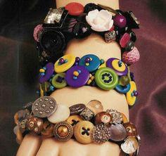 bracelete de botões!