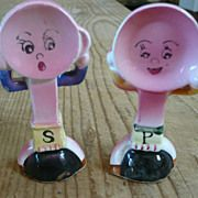 Vintage People Plates Salt & Pepper