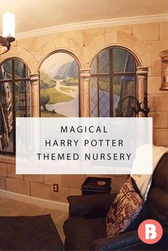 Kaycee and Casey (yes—both parents have the same name) created a literary lover's dream nursery for their 7-month-old son that even J.K. Rowling couldn't have envisioned.