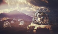 Research Arcologies on Remus-2  #3d #3dart #render #design #rendering #space #sciencefiction #science #scifi #scifiart #arcology #fantasy #planet #landscape #nature #wasteland #artwork #mattepainting #terragen #thegraphicspr0ject #cloudporn #clouds #sky #hub #exploration #future #futuristic #desert #research