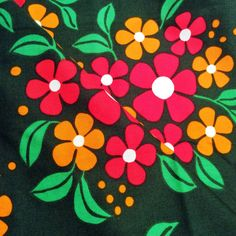 60s Fantastic Swedish vintage fabric with a lovely scandinavian floral pattern.