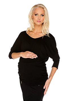 9b9e1d3ad7 Maternity Top Evening Party Margaret Lace Black S (small)