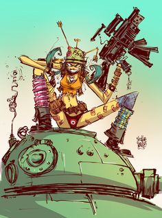 Good Lord !!!!  Tank Girl by Skottie Young