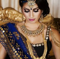 Regal indian bride #indianwedding #indianweddingmakeup Hair and makeup by dressyourface