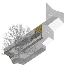 OMMX have been appointed to design an extension to a listed terraced Georgian town house on Canonbury Grove, Islington. One of the clients is colour blind and unable to see reds or greens. Architecture Graphics, Architecture Drawings, Architecture Details, Landscape Architecture, Architect Drawing, Architect Design, Ge Image, Therme Vals, Perspective Drawing