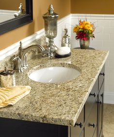 Awesome Light Colored Granite For Bathroom Ideas Natural Granite Bathroom Vanity Tops Wolf Home Products regarding [keyword Marble Countertops Bathroom, Bathroom Sink Tops, Granite Vanity Tops, Vanity Countertop, Granite Tile, Bathroom Vanities, Sinks, Bathroom Ideas, Bathrooms