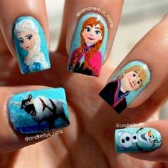 Will You Try These Frozen Movie Nail Arts? | Stylish Board