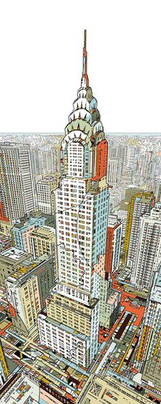 Manhattan ~ Fine Art Print ~ Choose your size ~ Artist: HR-FM ~ Love it! ~ ♥