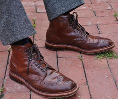 Alden ravello shell cordovan wingtip boots - If I was a boy I'd totally rock these babies!