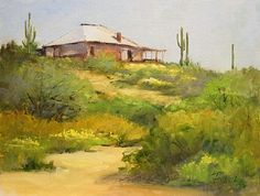"""Peggy Immel's painting """"Spring at Vulture Mine""""   http://peggyimmel.com/"""