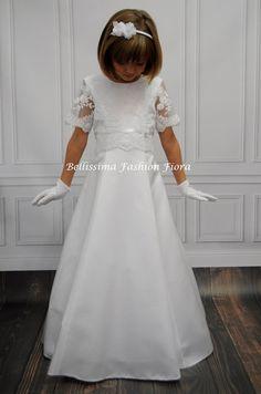 Kommunionkleid schlichtes Seidenkleid handgefertigt aus