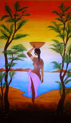 Compulsory At Me - Afuni's Knowledge Hub Black Women Art, Black Art, Girl Art Picture, African Paintings, Africa Art, African American Art, Cross Paintings, Female Art, Art Pictures