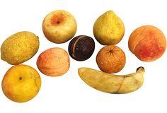 Alabaster Fruit, Set of 9