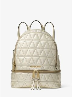 8c3e4b2d2cd3 Rhea Medium Metallic Quilted-Leather Backpack. Backpack PurseLeather  BackpackFashion For Women ...