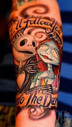 Jack And Sally - Nightmare Before Christmas #tattoo #ink #body art