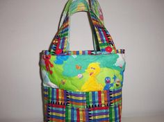 BIG  BIRD  at PLAY  Quilted Tote for Children