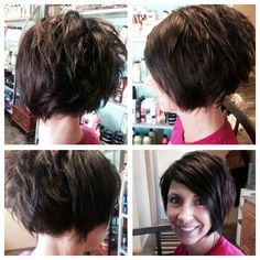 Did this on a super fun client!! Undercut around the right ear for some sass!!