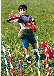 Classic Ring Toss  Enjoy a classic game of ring toss with a few simple craft items. This would be a perfect game at a celebration party.