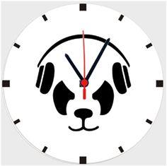 Gamer Panda Kendin Tasarla - Duvar Saati 27cm