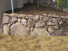 A Native stone wall in Black Forest Colorado