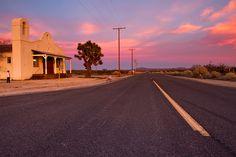 USA Mojave Desert church near Lancaster