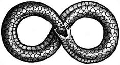 Eight Infinity symbol  (life and death, clockwise & counter-clockwise, karma - what comes around, goes around, completion.)