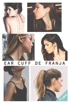 O ear cuff ganhou uma nova versão com a tendência das franjas que dominou a moda de acessórios. Uma peça sexy e de personalidade.